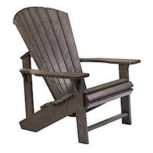 C.R. Plastic Products Adirondack - Chocolate Adirondack Chair