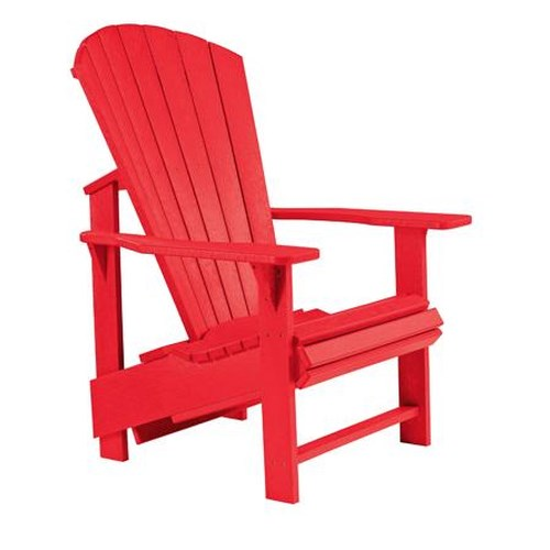 C.R. Plastic Products Adirondack - Red Adirondack Upright Chair