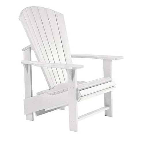 C.R. Plastic Products Adirondack - White Adirondack Upright Chair
