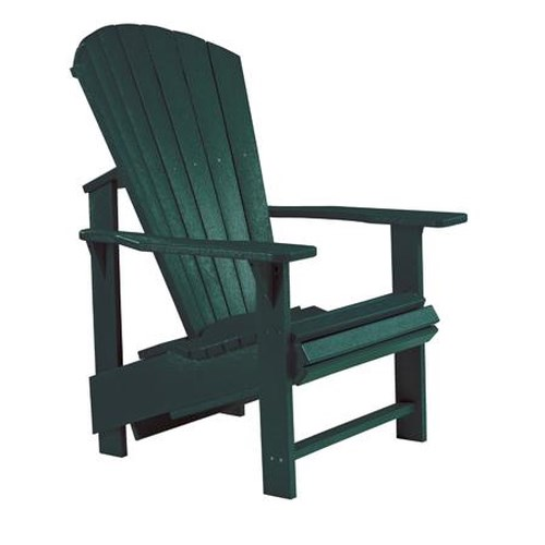 C.R. Plastic Products Adirondack - Green Adirondack Upright Chair