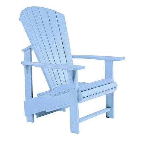 C.R. Plastic Products Adirondack - Sky Blue Adirondack Upright Chair