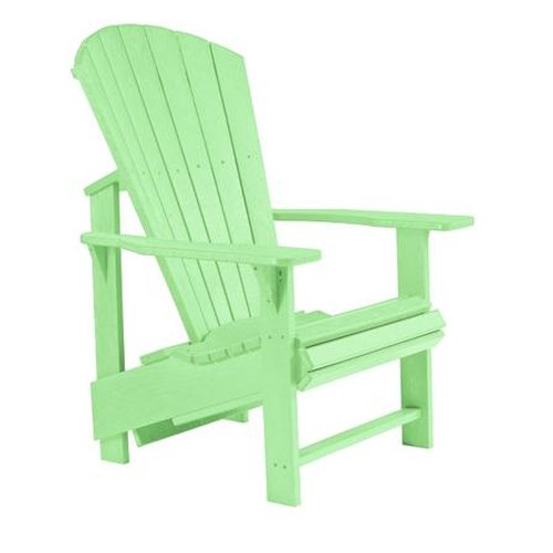 C.R. Plastic Products Adirondack - Lime Adirondack Upright Chair