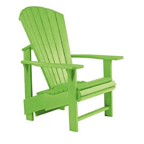 C.R. Plastic Products Adirondack - Kiwi Adirondack Upright Chair
