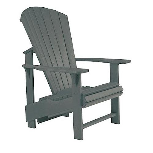 C.R. Plastic Products Adirondack - Slate Adirondack Upright Chair