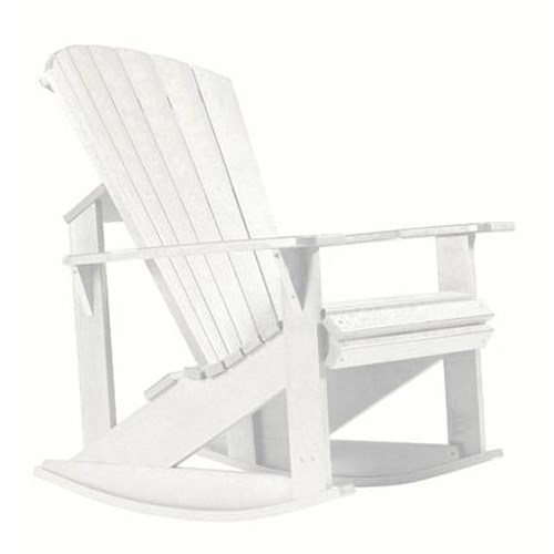 C.R. Plastic Products Adirondack - White Addy Rocker