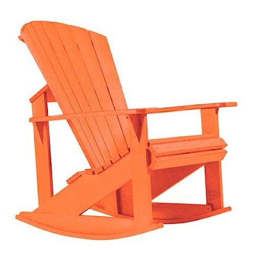 C.R. Plastic Products Adirondack - Orange Addy Rocker