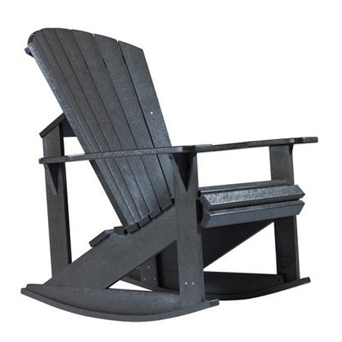 C.R. Plastic Products Adirondack - Black Addy Rocker