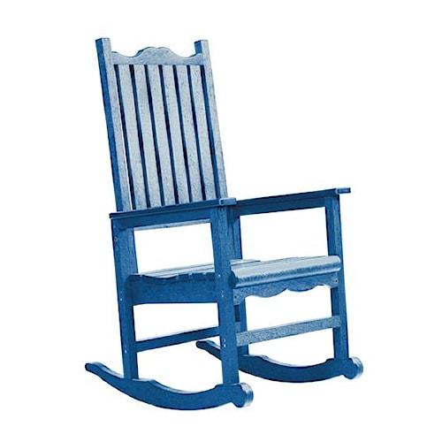 C.R. Plastic Products Adirondack - Blue Porch Rocker