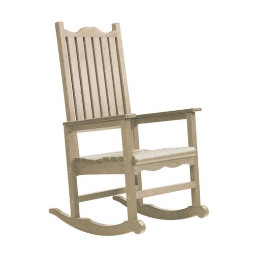 C.R. Plastic Products Adirondack - Beige Porch Rocker
