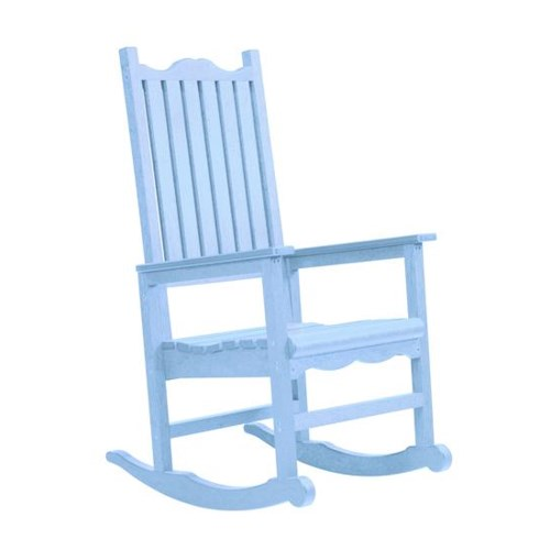 C.R. Plastic Products Adirondack - Sky Blue Porch Rocker