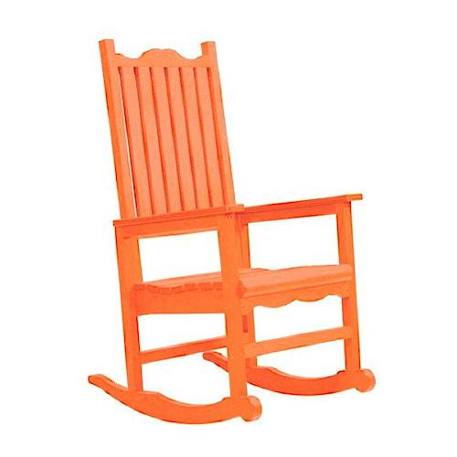 C.R. Plastic Products Adirondack - Orange Porch Rocker