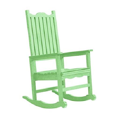C.R. Plastic Products Adirondack - Lime Porch Rocker