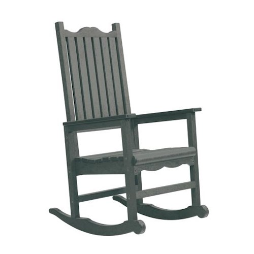 C.R. Plastic Products Adirondack - Slate Porch Rocker