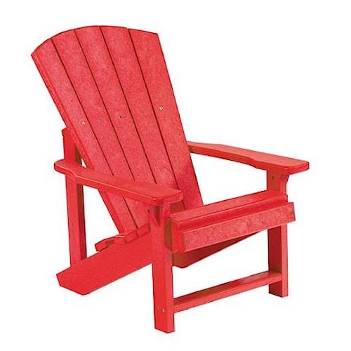 C.R. Plastic Products Adirondack - Red Kid's Adirondack Chair