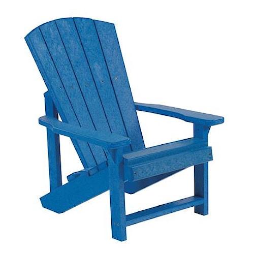 C.R. Plastic Products Adirondack - Blue Kid's Adirondack Chair