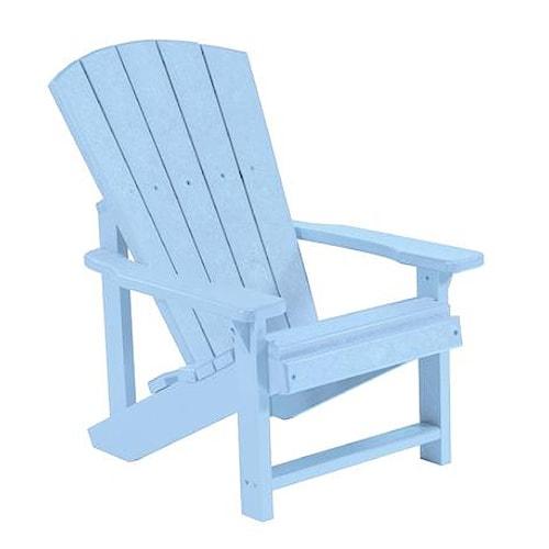 C.R. Plastic Products Adirondack - Sky Blue Kid's Adirondack Chair