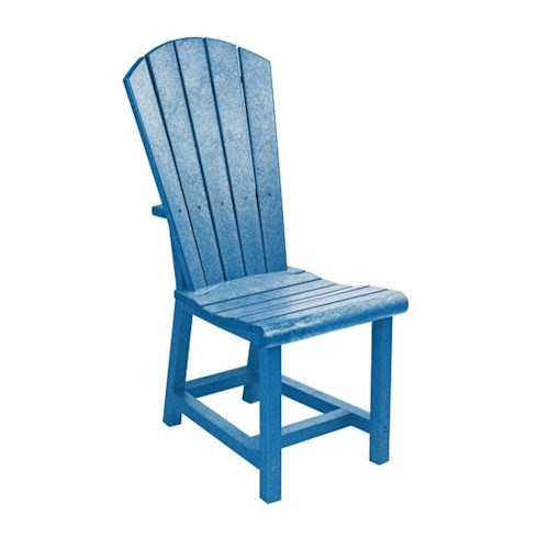 C.R. Plastic Products Adirondack - Blue Addy Dining Side Chair