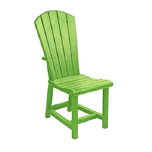 C.R. Plastic Products Adirondack - Kiwi Addy Dining Side Chair