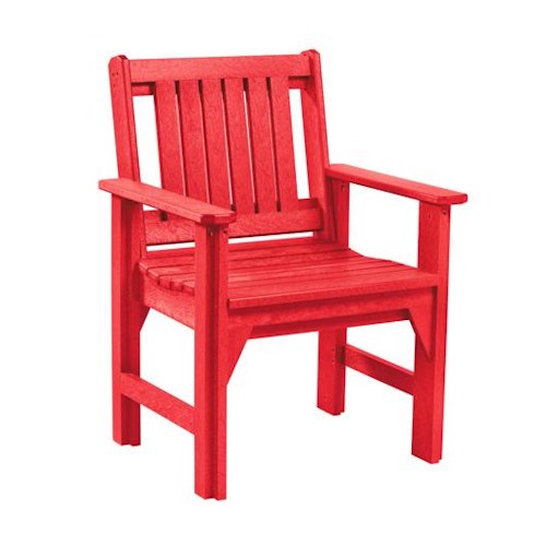 C.R. Plastic Products Adirondack - Red Dining Arm Chair