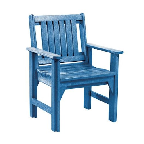 C.R. Plastic Products Adirondack - Blue Dining Arm Chair
