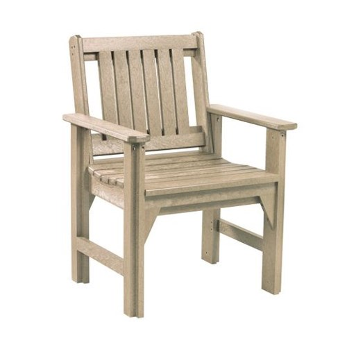 C.R. Plastic Products Adirondack - Beige Dining Arm Chair