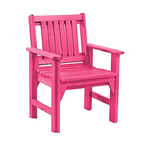 C.R. Plastic Products Adirondack - Fuschia Dining Arm Chair