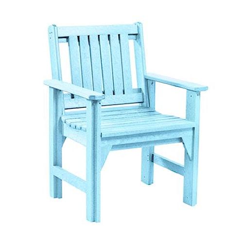 C.R. Plastic Products Adirondack - Aqua Dining Arm Chair