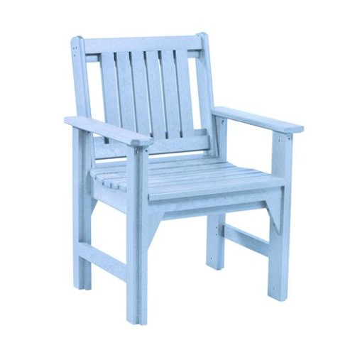 C.R. Plastic Products Adirondack - Sky Blue Dining Arm Chair