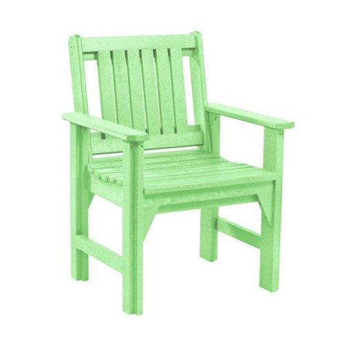 C.R. Plastic Products Adirondack - Lime Dining Arm Chair