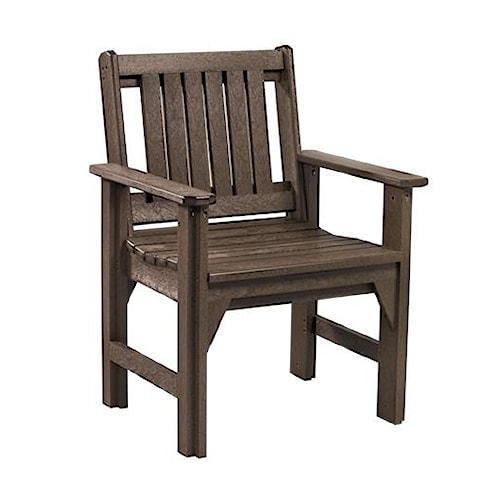 C.R. Plastic Products Adirondack - Chocolate Dining Arm Chair