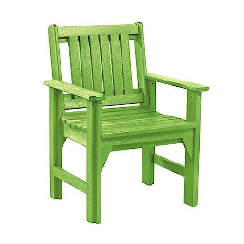 C.R. Plastic Products Adirondack - Kiwi Dining Arm Chair