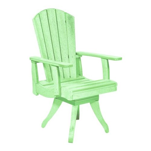 C.R. Plastic Products Adirondack - Lime Swivel Dining Arm Chair