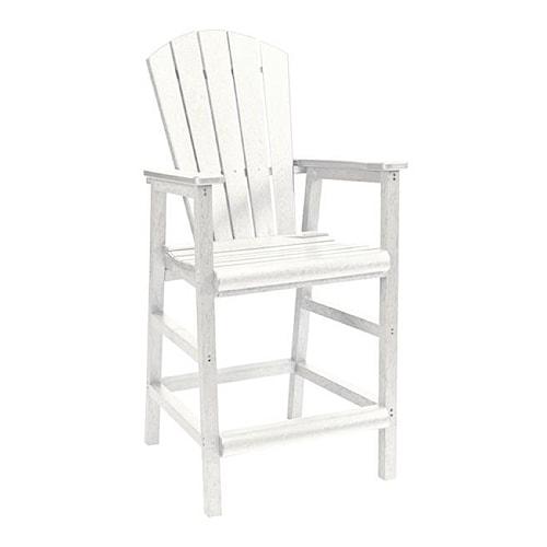 C.R. Plastic Products Adirondack - White Pub Pedestal Chair