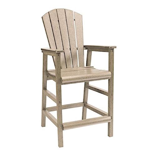 C.R. Plastic Products Adirondack - Beige Pub Pedestal Chair