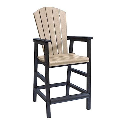 C.R. Plastic Products Adirondack - Pub Pedestal Chair