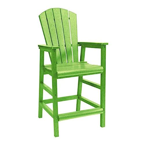 C.R. Plastic Products Adirondack - Kiwi Pub Pedestal Chair