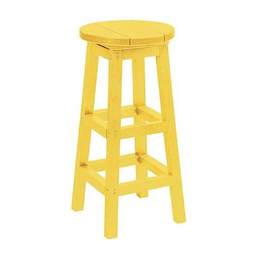 C.R. Plastic Products Adirondack - Yellow Bar Stool