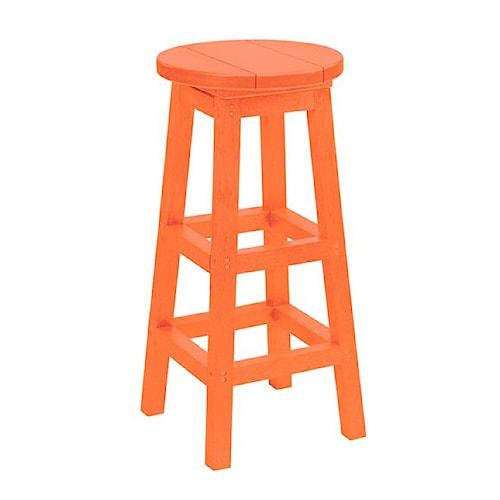 C.R. Plastic Products Adirondack - Orange Bar Stool