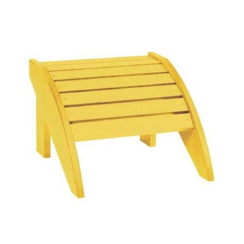 C.R. Plastic Products Adirondack - Yellow Footstool