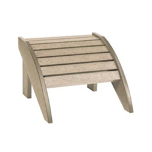 C.R. Plastic Products Adirondack - Beige Footstool