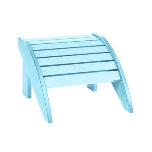 C.R. Plastic Products Adirondack - Aqua Footstool