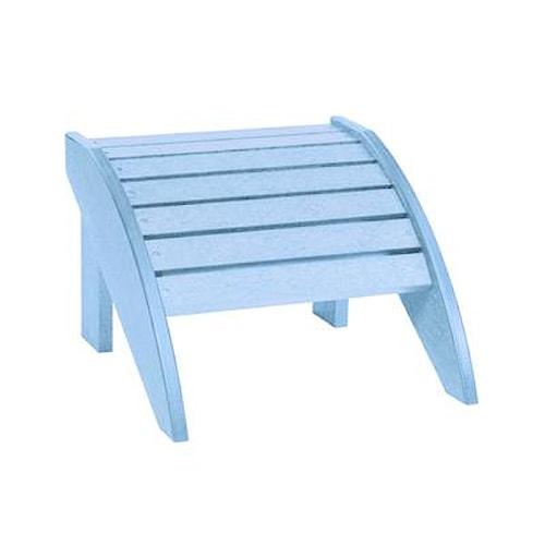 C.R. Plastic Products Adirondack - Sky Blue Footstool