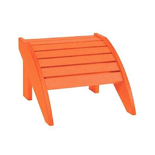 C.R. Plastic Products Adirondack - Orange Footstool