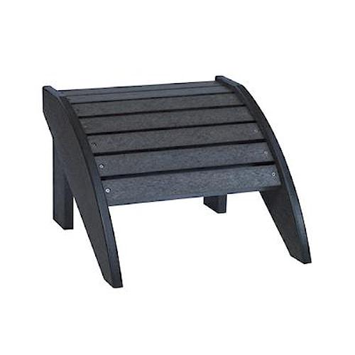C.R. Plastic Products Adirondack - Black Footstool