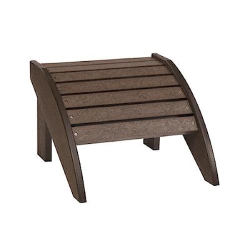 C.R. Plastic Products Adirondack - Chocolate Footstool