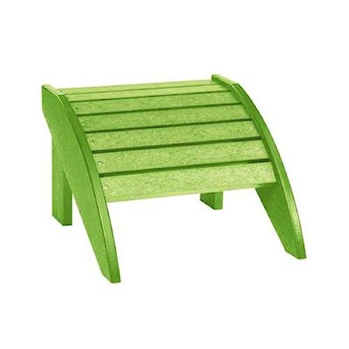 C.R. Plastic Products Adirondack - Kiwi Footstool