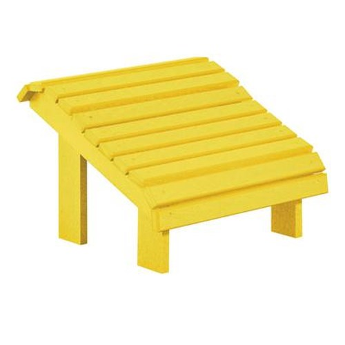 C.R. Plastic Products Adirondack - Yellow Footstool