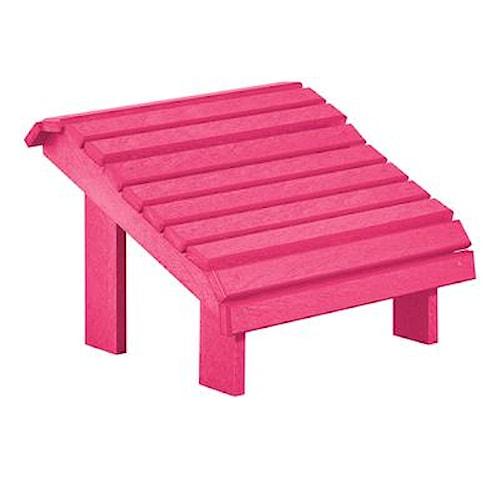 C.R. Plastic Products Adirondack - Fuschia Footstool