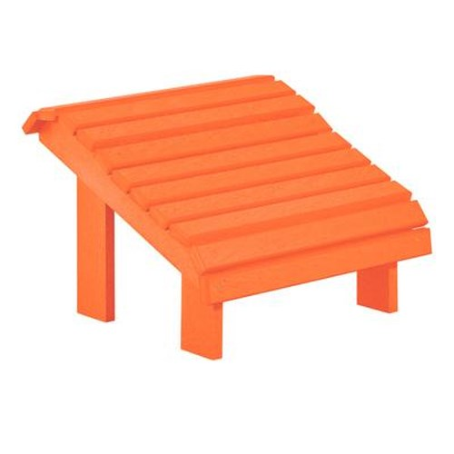 C.R. Plastic Products Adirondack - Orange Footstool