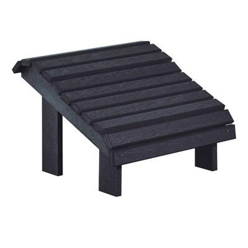 C.R. Plastic Products Adirondack - Black Footstool